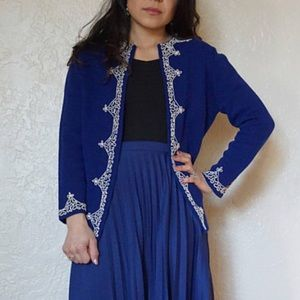 Womens vintage knit jacket 1960s medium